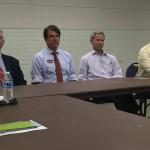 Salt Lake Mayoral Candidates: George Chapman, Luke Garrot, Ralph Becker, Dave Robinson (Jackie Biskupski representative was present)